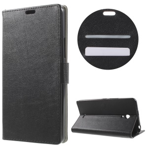 Wallet Stand Leather Case for Alcatel Pixi 4 (6) 3G Version - Black