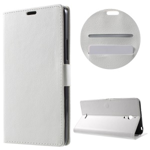 Wallet Stand Leather Cover for Alcatel Pixi 4 (6) 3G Version - White