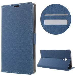 Maze Grain Wallet Leather Flip Cover for Alcatel Pixi 4 (6) 3G Version with Stand - Baby Blue