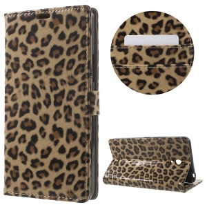 Leopard Pattern Leather Wallet Stand Case for Alcatel Pixi 4 (6) 3G Version
