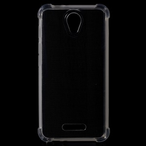 Clear TPU Gel Drop-resistant Skin Case for Alcatel OneTouch Pop 4 - Transparent
