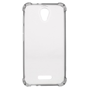 Clear TPU Gel Drop-resistant Skin Cover for Alcatel OneTouch Pop 4 - Grey