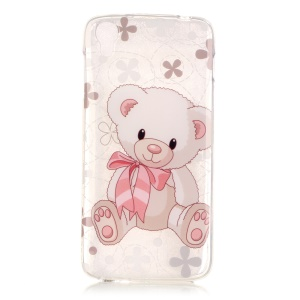 IMD TPU Gel Protective Case for Alcatel OneTouch Idol 3 (4.7) - Bear Doll
