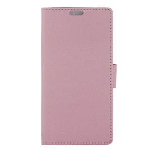 Textured Stand Leather Wallet Case for Alcatel X1 - Pink
