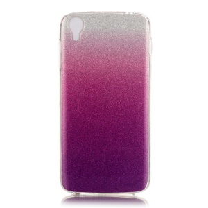 Glittery IMD TPU Gradient Powder Shell Cover for Alcatel OneTouch Idol 3 (4.7) - Silver / Purple