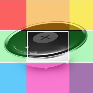 Qi Wireless Charger with Colorful LED Lights
