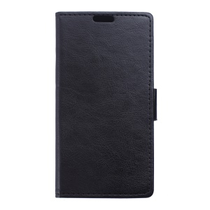 Crazy Horse Leather Wallet Case for Alcatel Pixi 4 (6) 4G - Black