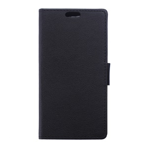 Wallet Leather Stand Case for Alcatel Pixi 4 (6) 4G - Black