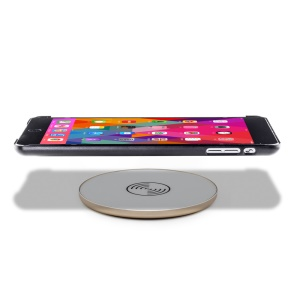 UP5 Round Shape Qi Wireless Charger Transmitter Charging Pad for Samsung Galaxy Note5 - Gold