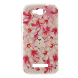 Softlyfit Embossed TPU Case for Alcatel One Touch Pop C7 OT-7040E 7040F 7040D - Pretty Flowers