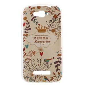Softlyfit Embossed TPU Mobile Phone Casing for Alcatel One Touch Pop C7 OT-7040E 7040F 7040D - Colored Plants