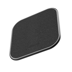 USAMS Litchi Grain Leather Metal Qi Wireless Charging Pad Wireless Charger for Samsung Galaxy S7/S7 Edge - Black
