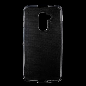 Non-slip Inner Glossy Outer TPU Gel Cover for Alcatel Idol 4S Windows - Transparent