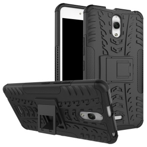 Cool Tire Pattern PC + TPU Kickstand Phone Case for Alcatel Pixi 4 (6.0) 3G - Black