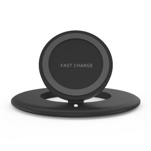 MOVMAO Double Round Wireless Fast Charger (M120) for Samsung Galaxy S8 G950 - Black