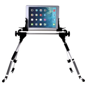 Universal Multifunctional Aluminum Foldable Mount Stand Bracket for iPhone iPad Samsung, Sony; 30cm Height, 1-10.1 Inch Width