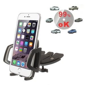 S051 Universal DVD/CD Slot Car Mount Holder for iPhone SE 5s 5 5c 6 6 Plus Samsung Sony LG, Width: 42-98mm