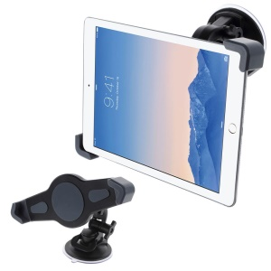 Universal 360 Rotation Suction Cup Car Mount Holder para iPad Samsung ASUS Tabs XWJ0868A, Largura: 18-30cm