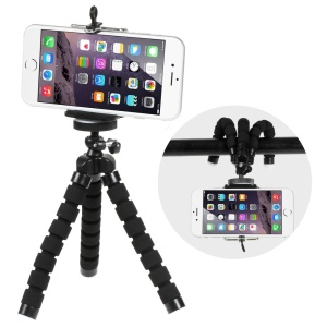 Octopus-like Cellphone Phone Mount Clamp Range: 5.5-8.5CM - Black
