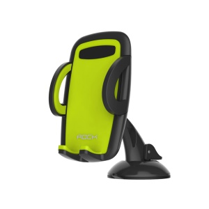 ROCK Deluxe Windshield Phone Holder Stand for iPhone 6 / Galaxy Note 4, Width: 50-95mm - Green