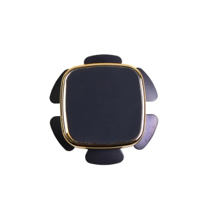 LW-919 Universal Adhesive Car Mount Mini Magnetic Phone Stand for iPhone 7/Samsung Note 8 - Gold Color
