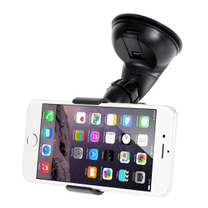 Black Bird Mouth Clip Suction Mount Car Holder for iPhone 6 / Samsung Galaxy S6, Width: 0-112mm