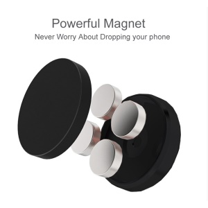 CS01 Universal Flat Stick-on Dashboard Magnetic Car Mount Holder for iPhone 8, Samsung Note 8 etc. - Black