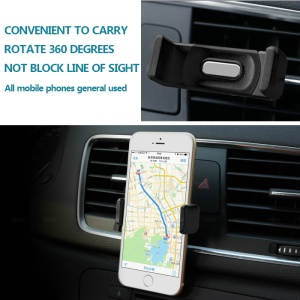 Car Air Vent Mount Holder for Mobile Phones, Clamp Width: 5.5-8cm