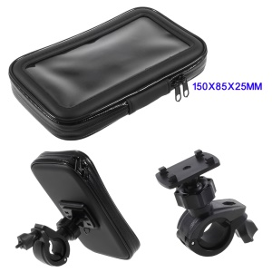 L Size Bicycle Handlebar Mount Holder Daily Waterproof Bag for iPhone X / 8 / 7 Etc, Inner size: 150x85x25mm - Mount Style B
