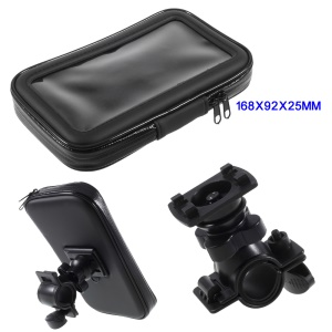 XL Size Bicycle Handlebar Mount Holder Daily Waterproof Case for iPhone 8 Plus / 7 Plus Etc, Inner size: 168x92x25mm - Mount Style A