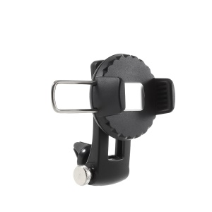 Adjustable Car Mount Rotating Phone Holder with Closed Button for iPhone X / 8 Plus / 8 etc. - Black