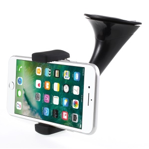 Qi Wireless Charger with Suction Cup Car Mount Holder for iPhone 8/Samsung Note 8 etc. - Black