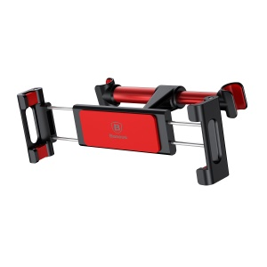 BASEUS Adjustable Headrest Bracket Car Mount Backseat Holder for 4.7-12.9 inch Phone Tablet - Red