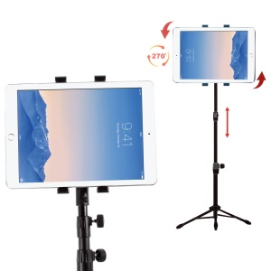 Multi-direction Tripod Stand Holder for iPad Air / Samsung Galaxy Tab A 9.7, Width: 16.5-19.5cm