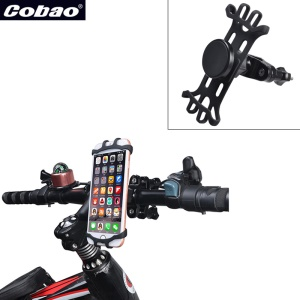 For 3-6 inch Phones Plastic Bicycle Motorcycle Pram Handlebar Phone Holder - Black