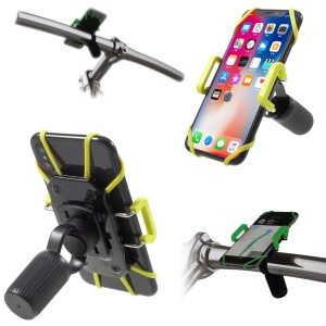 IDMIX DM05 Universal Bicycle Bike Mount Phone Holder with Elastic Secure Strap for iPhone X Etc. Clamp Width: 4-10cm