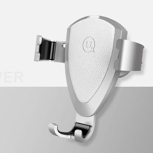 USAMS US-ZJ029 Car Aromatherapy + Air Vent Gravity Holder for iPhone Samsung Huawei - Silver Color