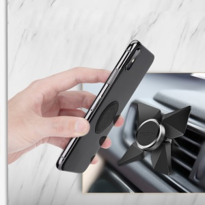 ROCK Tornado Magnetic Air Vent Car Mount for iPhone Samsung - Black