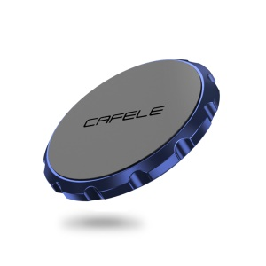 CAFELF Flat Gear Shape Universal Magnetic Car Air Vent Mobile Mount Holder with Sticker - Blue