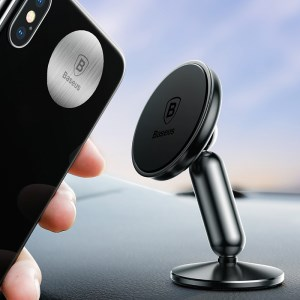 BASEUS Rotary Strong Magnetic Dashboard Car Mount - Black