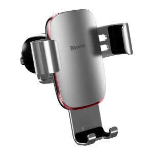 BASEUS Metal Age Gravity Car Air Vent Mount Stand for iPhone Samsung Huawei etc - Silver