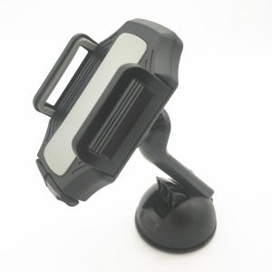 Suction Cup Car Mount Manual Lock Phone Holder for iPhone Samsung, Width: 50-100mm - Black