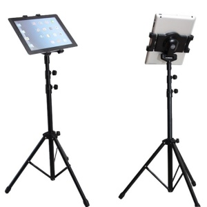 First Generation Universal 360° Rotation Telescopic Tripod Mount Holder for 7-10 Inch Tablet