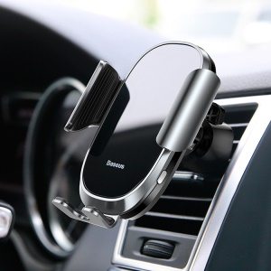BASEUS Future Series Intelligent Sensor Car Air Vent Mount Stand for iPhone Samsung - Silver