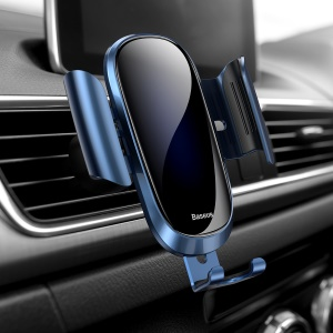 BASEUS Future Series Glass Surface Gravity Car Air Outlet Mount Holder for iPhone Samsung - Blue