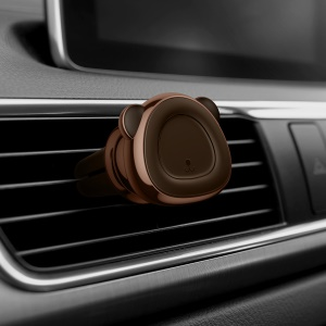 BASEUS Cute Bear Shaped Magnetic Car Air Outlet Mount Mobile Phone Holder - Brown