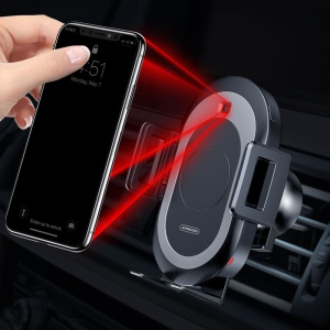 JOYROOM ZS165 Cute Series Intelligent Sensor Wireless Charger Car Air Vent Mount Holder for iPhone Samsung - Black