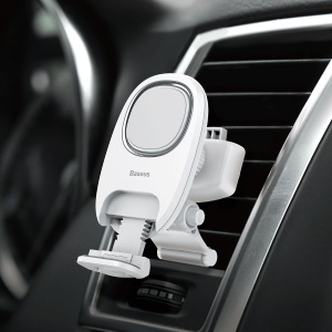 BASEUS Xiaochun Magnetic Car Phone Holder 360 Degree Rotating Car Air Vent Holder for All Mobile Phones - White