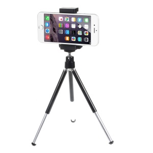 Portable Rotary Tripod Stand with Phone Holder Mount, Size: 5-9cm
