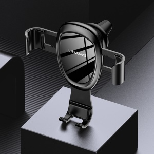 USAMS Bowie Series US-ZJ042 Gravity 360 Degree Rotation Car Air Vent Mount Phone Holder for iPhone Samsung Huawei - Black